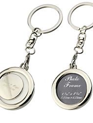 Personalized Round Photo Frame Key Ring (Set of 6)