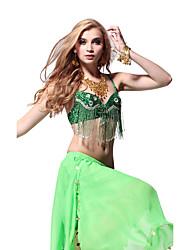 Suorituskyky Dancewear paljetit ja Crystal tupsut Belly Dance Top Ladies Lisää värejä
