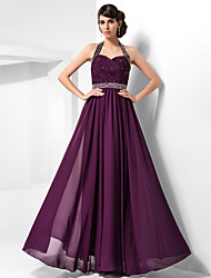 Formal Evening/Prom/Military Ball Dress - Grape Plus Sizes Sheath/Column Halter/Sweetheart Floor-length Chiffon