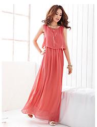 Women's Chiffon Two Piece Like Maxi Dress