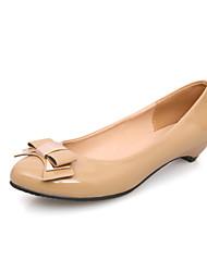 Stijlvolle lakleder lage hak gesloten teen met bowknot party / avond schoenen (meer kleuren)
