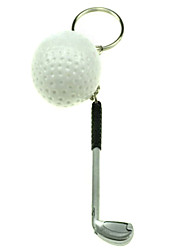 Cartoon Golf Clubs and Balls Shaped Keychain(2-Piece Set)