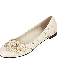 Fashion Leather Flat Heel Flats With Flowers Party / Evening Shoes(More Colors)