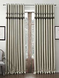 (Un panel) Ropa de imitación habitación clásica cortina para obscurecer