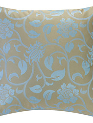 Light Blue Jacquard Polyester Dekorative Kissenbezug