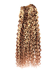 """18"""" 100% Indian Hair Mixed Color Popular Wave Wefted Hair Extensions"""