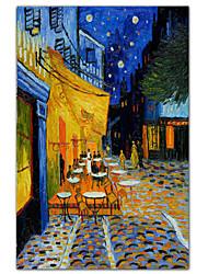 Cafeterras aan het Place du Forum, Arles, bij nacht, c.1888 vincent van gogh beroemde kunstdruk