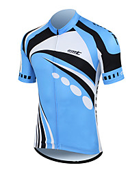 Santic 100% Polyester Fiber Short Sleeve Breathable+Quick-Drying Men Cycling Jersey(2 Colors)