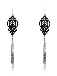 Lureme®Vintage Lace Tassels Pendant Earrings