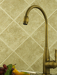 Personalized Kitchen Faucet in Classic Centerset style Antique Brass