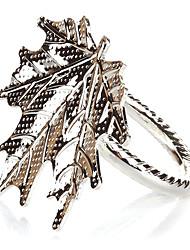 Set of 4 Maple Leaves Zinc Alloy Napkin Ring
