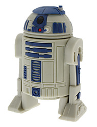 8GB R2-D2 Robot High-speed USB 2.0 Flash Pen Drive Gray