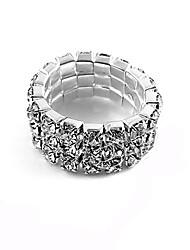 European Style Fashion Bright Shiny Alloy Rhinestone Band Ring