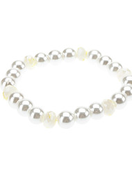 Pure White Pearl Crystal Bracelet