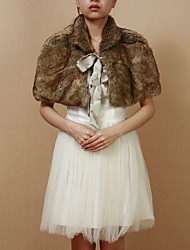 Beautiful Faux Fur Evening/Casual Wrap/Evening Jacket Bolero Shrug