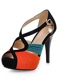 Stilvolle Suede Stiletto Heel Sandaletten mit Strass Partei / Abendschuhe (weitere Farben)