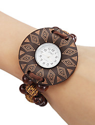 Women's Wood Quartz Analog Bracelet Watch (Multi-Colored) Cool Watches Unique Watches