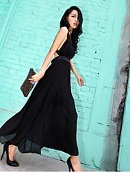 Women's Bandage Backless Maxi Dress