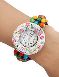 Women's Wood Analog Quartz Bracelet Watch (Multi-Colored) Cool Watches Unique Watches