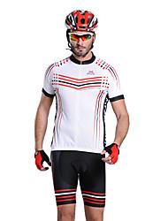 Mysenlan Homme Demi-manche Vélo Ensemble de Vêtements Zip étanche Zip frontal Vestimentaire Respirable Cyclisme/Vélo