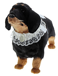 Elegant Pet Lace Neckerchief with Big Jewelry Decoration for Dogs (S-L)