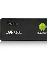 Jesurun mk809iii android 4.1.1 caixa de smart tv 2g ram 8g rom quad core mini-pc wi-fi tf Bluetooth HDMI