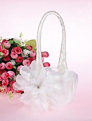 Lovely Flower Basket With Satin Flower