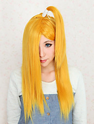 Cosplay Wigs Naruto Deidara Yellow Medium Anime Cosplay Wigs 50 CM Heat Resistant Fiber Female