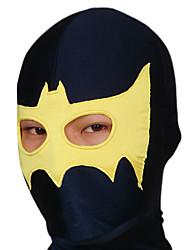 Yellow Bat Black Open Eyes Lycra Hood