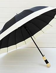 White Edge Casual Lolita Umbrella