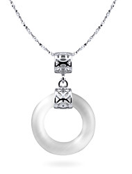 Women's Silver Necklace Anniversary/Gift/Daily/Causal Opal
