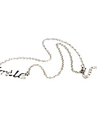 Smile Letter Set Auger Necklace