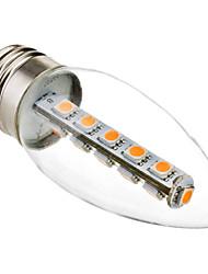 3W E26/E27 Ampoules Bougies LED C35 16 SMD 5050 180 lm Blanc Chaud Décorative AC 100-240 V