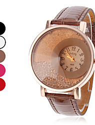 Women's Quartz Analog Flowing Beads Dial PU Band Wrist Watch (Assorted Colors)