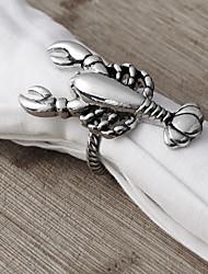 ensemble de 4 rond de serviette de homard