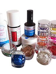 16PCS UV Nail Kits Glitter