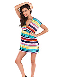 Women's Bandeau Cover-Ups , Geometric Spandex/Polyester