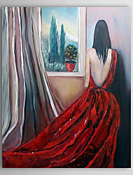 Hand Painted Oil Painting People Nude with Stretched Frame 1306-LS0270