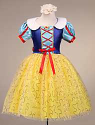 A-line/Ball Gown/Princess Knee-length Flower Girl Dress - Satin/Tulle Short Sleeve