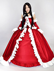 Inspired by Pandora Hearts Lacie Anime Cosplay Costumes Cosplay Suits / Dresses Patchwork Red Sleeveless Dress / Sleeves