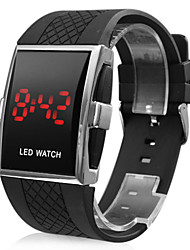 Men's Watch Red LED Silicone Strap Cool Watch Unique Watch