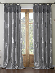 AnTi™ (Two Panels) Rococo Print Floral Blackout Curtain