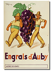 Printed Canvas Art Vintage Engrais D'Auby by Vintage Posters with Stretched Frame
