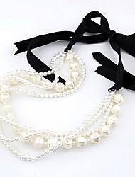 alliage de la mode et de la résine avec Imitation Pearl Necklace