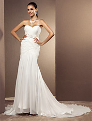 Lanting Bride® Trumpet / Mermaid Petite / Plus Sizes Wedding Dress - Classic & Timeless / Elegant & Luxurious Court Train Sweetheart