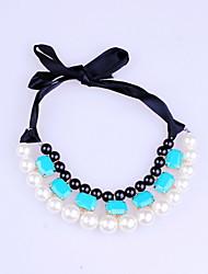 Corde de la mode et de la résine avec Imitation Pearl Necklace