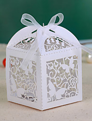 Buterfly Hollow-out Wedding Favor Box (Set of 12)