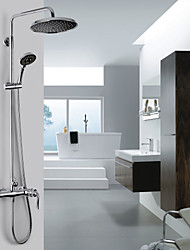 Shower Faucet Contemporary A Grade ABS Chrome Finish (Rainfall+Handheld)