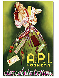 Printed Canvas Art Vintage Api_chocolate_italian by Vintage Apple Collection with Stretched Frame