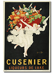 Printed Canvas Art Vintage Cusenier by Vintage Apple Collection with Stretched Frame